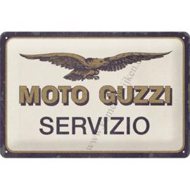 metalen wandplaat Moto Guzzi servizio 20x30 cm