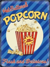 metal wall sign popcorn 30-40 cm