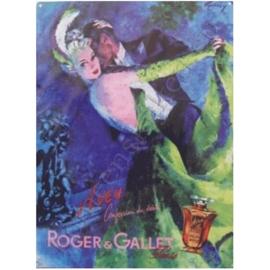 metalen wandplaat Aveu, Roger en Gallet 30-40 cm.