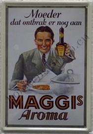 metalen ansichtkaart maggi's aroma 10-14 cm