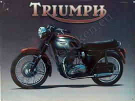blikken wandplaat Triumph Bonneville 30x40 cm