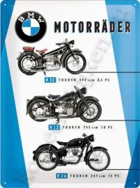 metalen wandplaat BMW motorraeder chart 30-40 cm