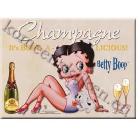 metalen ansichtkaart Betty Boop zittend 15-21 cm