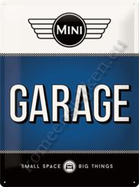 metalen wandplaat Mini garage 30-40 cm..