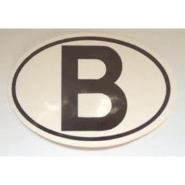 sticker België 12,5 bij 8,5 cm