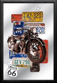 spiegel route 66 harley davidson usa license plates