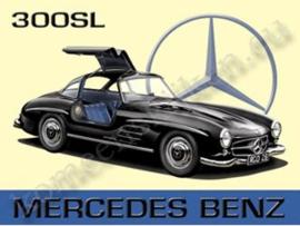 metalen wandbord Mecedes 300SL 15x20 cm