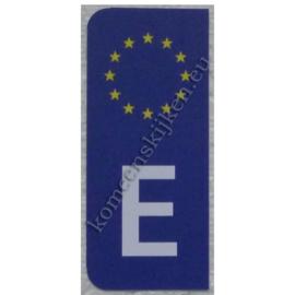 sticker Spaanse kentekenplaat E ca 4,4 bij 9,8 cm