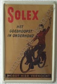 blikken reclame bord van solex 30-40 cm