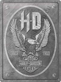 metalen muurbord Harley-Davidson Eagle 30x40 cm