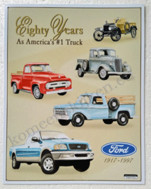 metal wall sign ford truck eighty years 30-40 cm