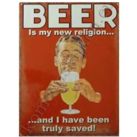 wandplaat beer / religion 30-40 cm