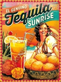 metalen wandbord tequila 30-40 cm..