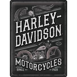 wandplaat Harley-Davidson Motorcycles 30 x 40 cm