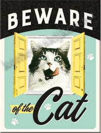 koelkast magneet beware of the cat