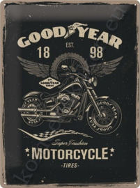 metalen reclamebord goodyear motorcycle tires 30-40 cm