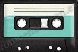 metalen wandplaat cassettebandje 20-30 cm