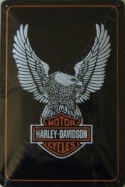 blikken wandplaat harley davidson / eagle 20-30 cm