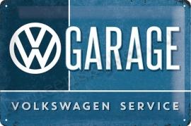 metalen wandplaat VW garage 20-30 cm