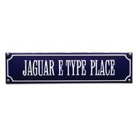 emaille straatnaambord jaguar e type place