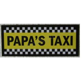 sticker papa`s taxi 11,5 cm