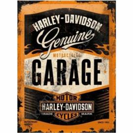 tin sign Harley davidson garage 30-40 cm