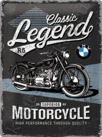 Metalen wandplaat BMW classic legend r5  30-40 cm