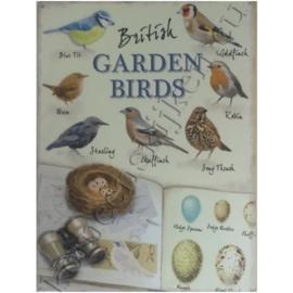 metalen wandbord garden birds 30-40 cm