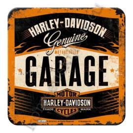 metalen coaster harley davidson garage