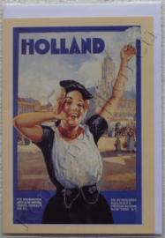papieren wenskaart holland