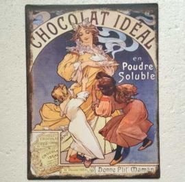 blikken muurbord Chocolat Ideal 25x33 cm