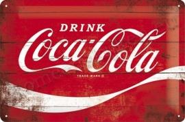 metalen wandplaat coca cola wave 20-30 cm