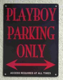 metalen wandbord playboy parking only 15x20 cm