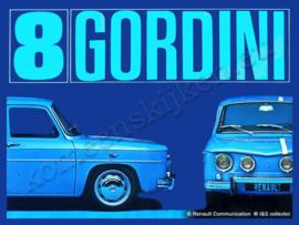 metalen reclamebord Renault 8 Gordini R 15-20 cm
