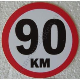 sticker 90 km 7,5 cm