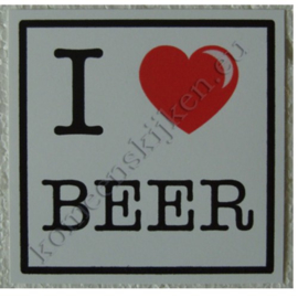 sticker I love beer 10,5 cm.