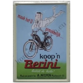 metalen ansichtkaart Berini 10-14 cm