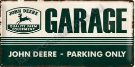 metalen wandbord john deere garage 25x50 cm
