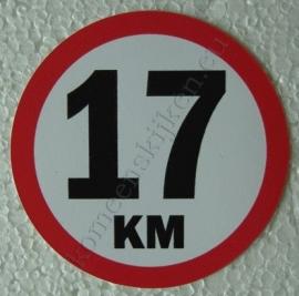 sticker 17 km 7,5 cm