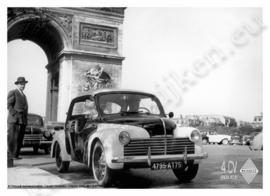 metalen reclamebord Renault 4 CV politie 20-30 cm