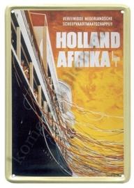 metalen ansichtkaart holland afrika lijn 10-14 cm