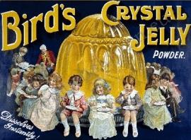 metalen reclamebord bird`s jelly powder 30-40 cm