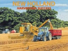 metalen wandplaat New Holland 30-40 cm