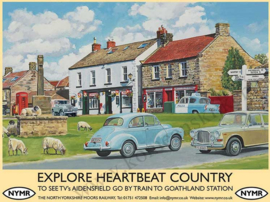 metalen reclamebord heartbeat country 30x40 cm