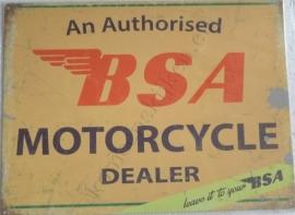 metalen wandplaat BSA dealer 30-40 cm
