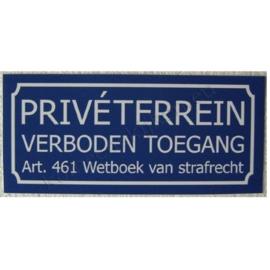 sticker priveterrein / verboden toegang middel