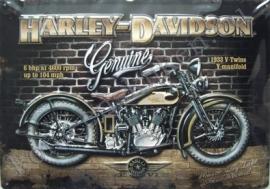 blikken reclamebord harley davidson 1933 30-40 cm