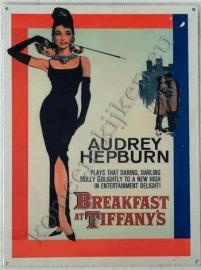 metalen affiche van audrey hepburn 30-40 cm