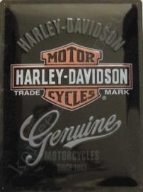 metalen wandplaat harley davidson genuine 30-40 cm