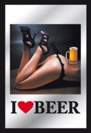 muurspiegel I love beer